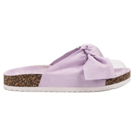 Diamantique violet Papuci cu arcul