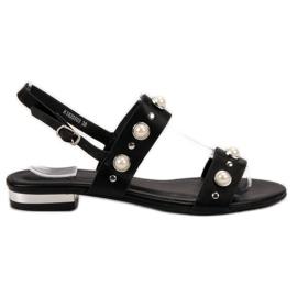 Kylie negru Sandale neagră confortabile