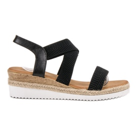 Bello Star negru Slip sandale Espadrilles