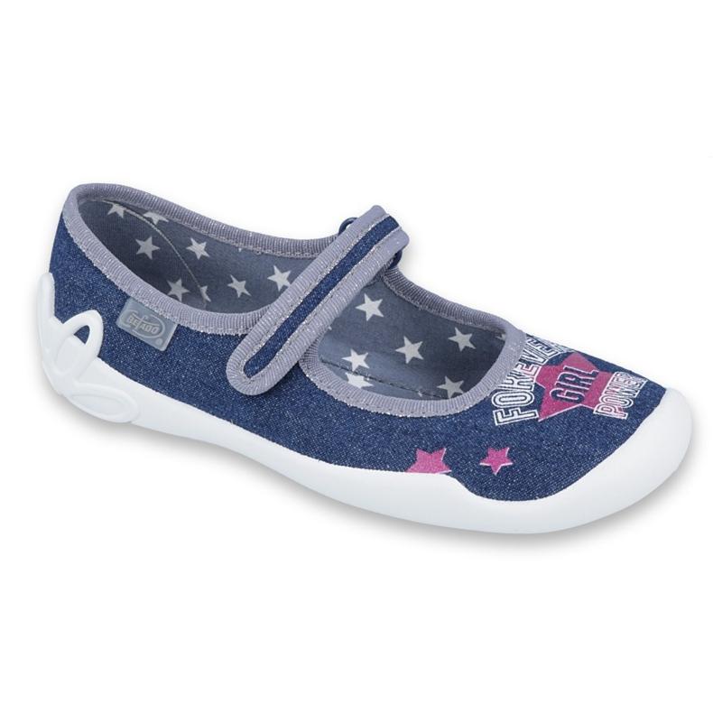 Încălțăminte pentru copii Befado 114Y369 albastru marin albastru gri multicolor