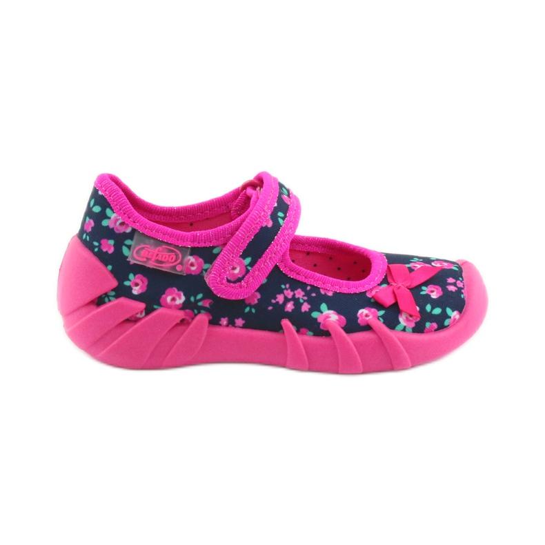 Papuci pentru fete Befado 109p181 roz albastru marin
