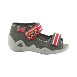 Papuci băieți Napa Befado 250P089 gri roșu