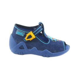Papuci băieți Befado 217P103 bleumarin albastru marin