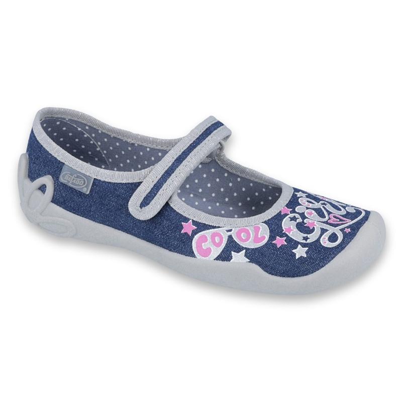 Încălțăminte pentru copii Befado 114Y368 albastru marin roz gri