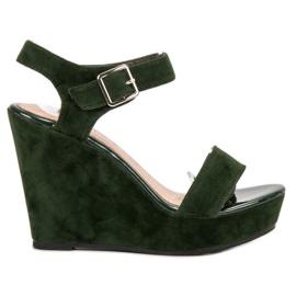 Vinceza verde Suede Sandale