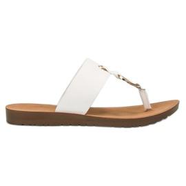 Elegante flip-flopuri VINCEZA alb