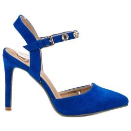 Kylie albastru Stilettos cu călcâi deschis