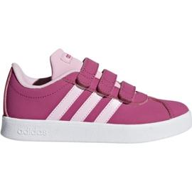 Pantofi Adidas VI Court 2.0 Cmf C roz Jr F36394