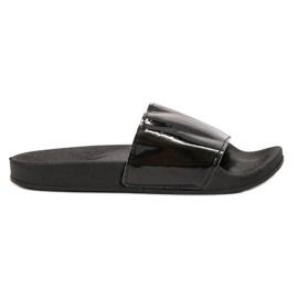 Small Swan negru Modă papuci negri