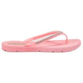 Seastar roz Flip-flops cu zirconi