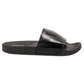Small Swan negru Papuci pentru femei casual