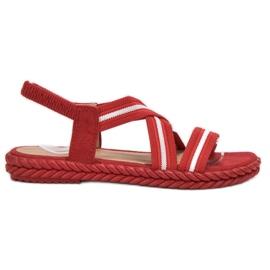 Seastar Sandale pentru femei confortabile roșu