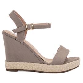 Seastar Sandalele espadrille de culoare gri