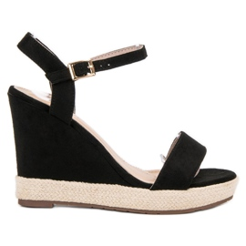 Seastar negru Espadrille Sandale Negre