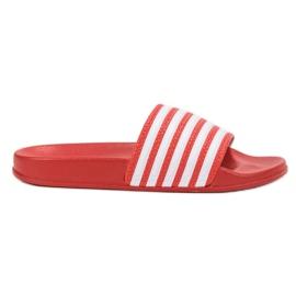 SHELOVET Papuci de sport cu curele roșu