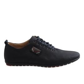 Negru Pantofi negri bărbați WF932-1