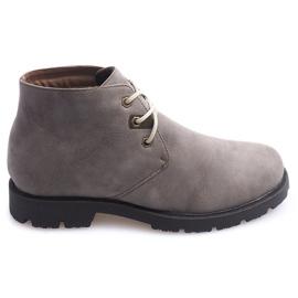 Pantofi de pantofi de înaltă tricotaj legați 81909 Taupe