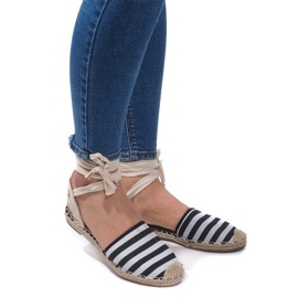 Sandale Espadrilles Pantofi pentru balet Balerinki 6368 Negru