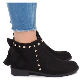 Suede piele cizme cu Slider LL-168 negru