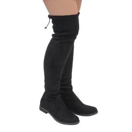 Erynn negru Cizme din piele neagră A26
