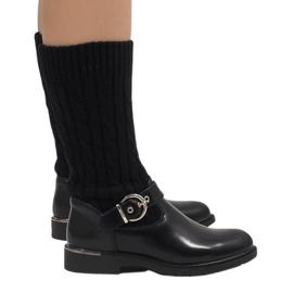 Ideal Shoes Încălțăminte neagră caldă E-4939 negru