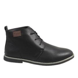Pantofi pentru bărbați izolați negru 989-1