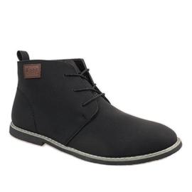 Negru Pantofi bărbați izolați negri 989-2