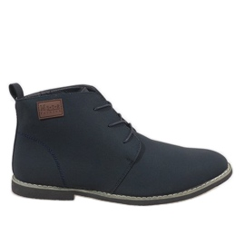 Bleumarin Pantofi bărbați izolați din albastru maro 989-3