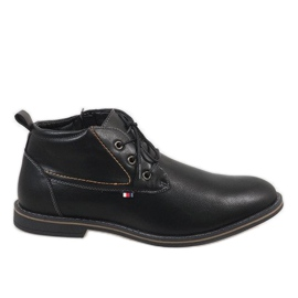 Negru Pantofi bărbați cu izolație neagră 9W-BK86417