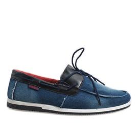 Albastru închis pantofi elegant moale AB108-1 bleumarin