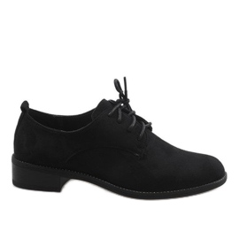 Negru Pantofi de jazz neagră cu pantofi de piele de căprioară C-7183