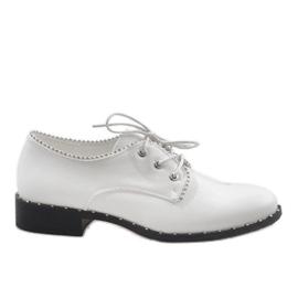 Pantofi albi Jazzówki Ćwieki 6288-2