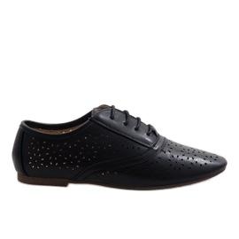 Pantofi de jazz negru deschis Oxford 3