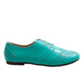 Verde Pantofi de jazz green openwork Oxford 1