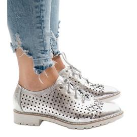Gri Pantofi din argint deschis cu gheare G-106-2
