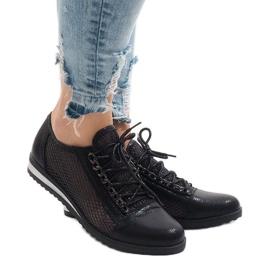 Negru Pantofi neagră deschisă TL44