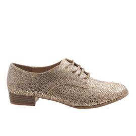 Galben Pantofi de dantelă de aur G086