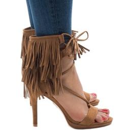Maro Bej sandale pe stiletto suh boho 8125-1