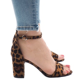 Leopard sandale cu cinci tocuri 5102