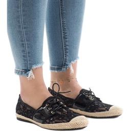 Pantofi de jazz deschis, negru, YW-888