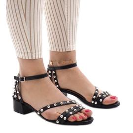 Pantofi cu toc inalt 77-11 negru