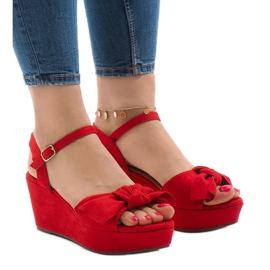 Roșu Pantofi roșii cu arcul F055