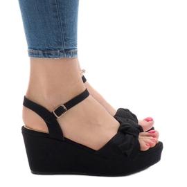 Sandale negre cu arcul F055 negru