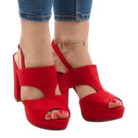 Sandale roșii pe postul JS-8001 roșu