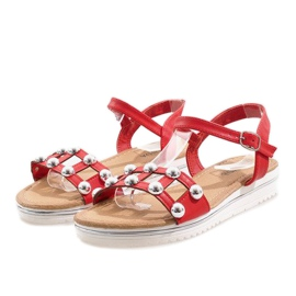 Roșu Pantofi roșii cu bandă elastică 35-128