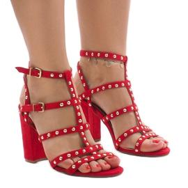 Roșii sandale pe post 168-163 roșu