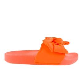 Portocaliu Flip-flopuri Orange cu un arc din neon MU-6
