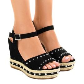 Negru pantaloni sandale 77-32