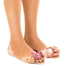 Maro Bej sandale meliski cu flori AE20