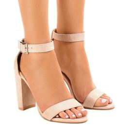 Maro Bej sandale pe post cu cataramă 369-18